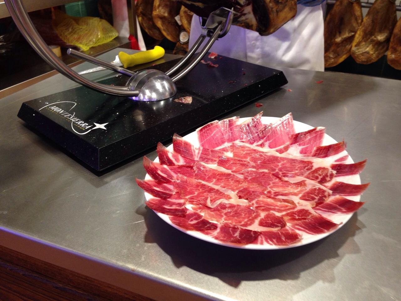 Plato de loncheado jamón Montesierra