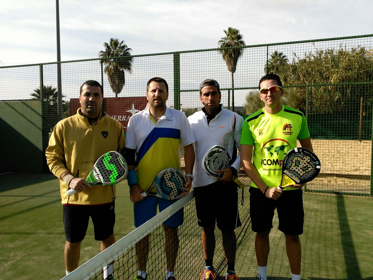Final de Pádel +40: Jorge Bocanegra, José M. Lara, A. Martínez 'Chone' y Fernando Iriart
