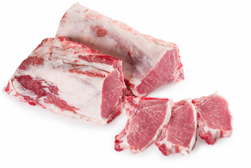Chuletas de cerdo ibérico para barbacoa