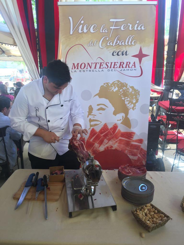 Jamón Ibérico Montesierra en la Feria de Jerez