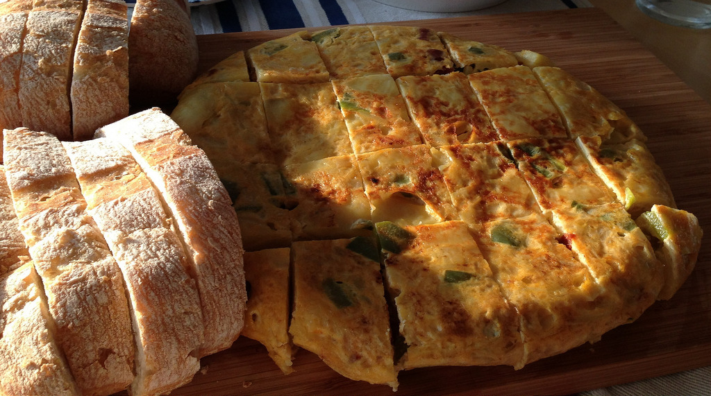 Tortilla de patata con chorizo Montesierra