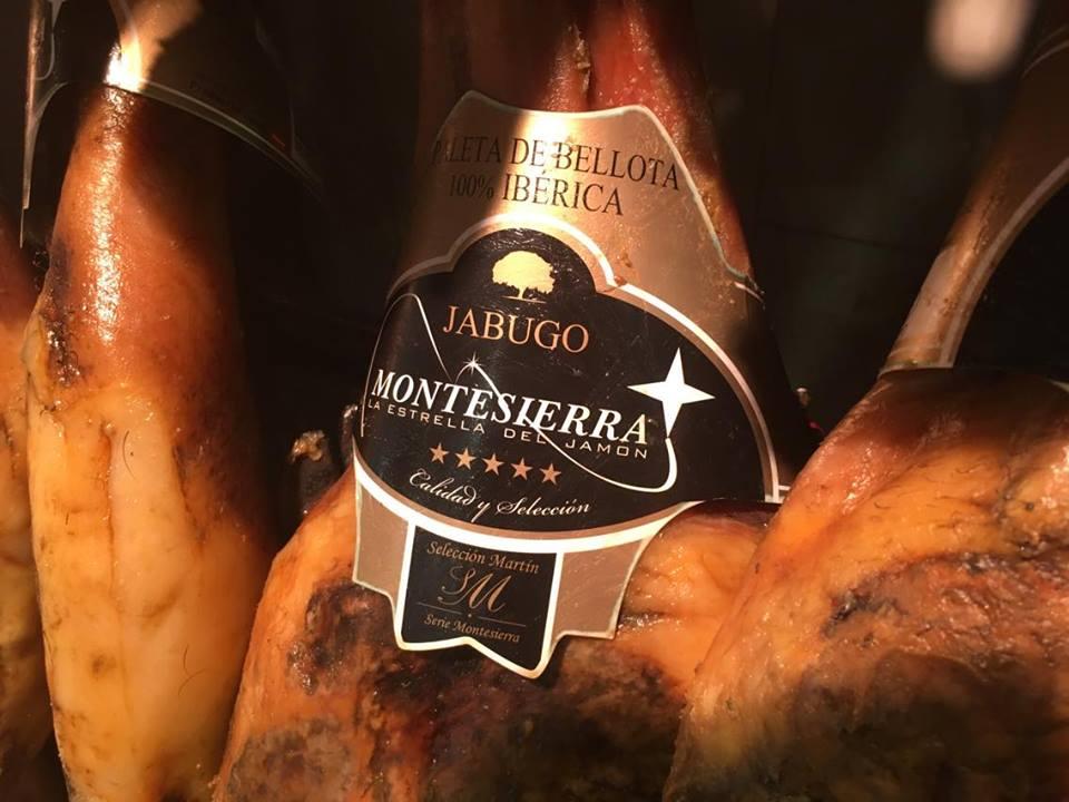 Etiqueta de jamón ibérico Montesierra