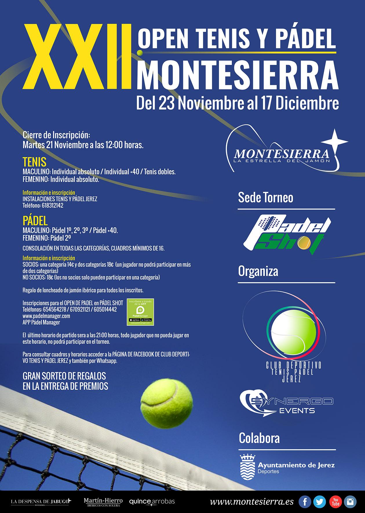 XXII Torneo de Pádel y tenis Montesierra