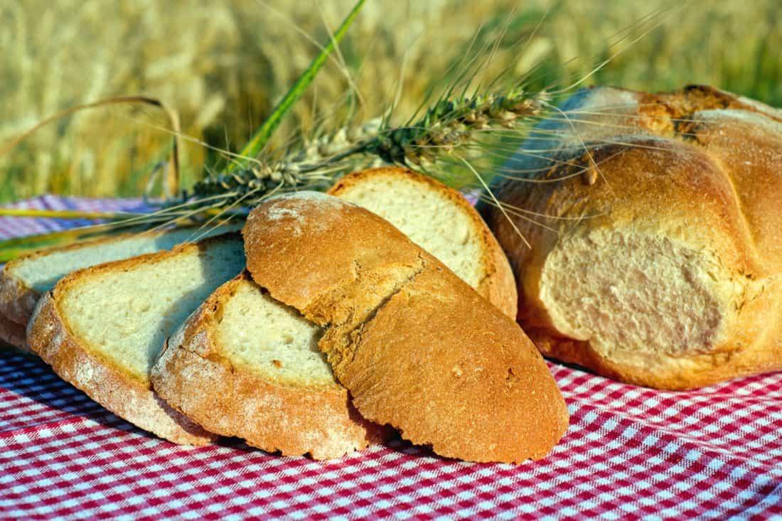 Hogaza de pan de pueblo y jamón Ibérico Montesierrra