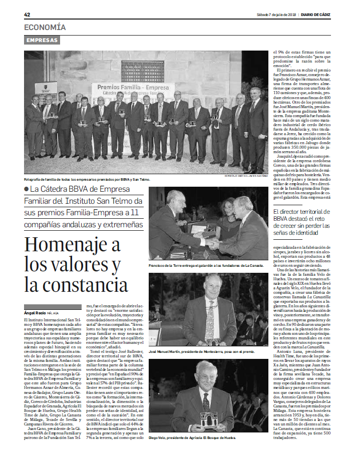 Montesierra recibe el Premio San Telmo